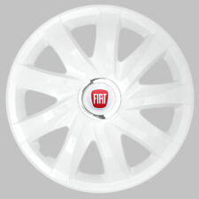 "4x14"" Hup caps Wheel trims for Fiat 500 Punto Panda 14'' white"
