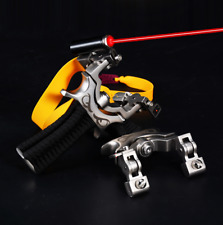 Rotating Slingshot Hunting Catapult Archery Slingbow Rubber Band Laser Aiming