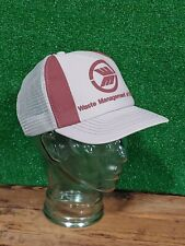Vintage 80s Waste Management of Kentucky Trucker Snapback Hat Cap Trash Man KY
