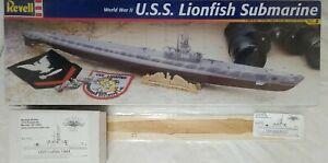 2004 REVELL 85-52258 USS LIONFISH SUBMARINE - 1/180 SCALE KIT w/ 2 UPGRADES