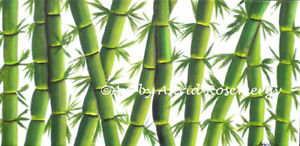 Bamboo Perennial Plant Grass - Original Painting by Astrid