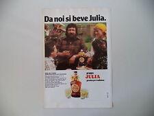 advertising Pubblicità 1978 GRAPPA JULIA e FENIS SAGRA DELLA ZUPPA VALDOSTANA