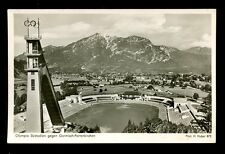 OLYMPICS SKI JUMP 1936 WINTER SPORTS STADIUM REAL PHOTO PPC