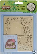 Docrafts layered dies Woodland Folk hedgehog use in Xcut sizzix big shot etc