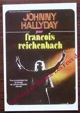 Carte postale film Johnny Hallyday par Francois Reichenbach,tirage limité  CPSM