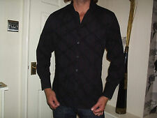 BURTON STRIPED FITTED LONG SLEEVE SHIRT SIZE MEDIUM