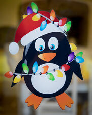 Christmas Penguin Double Sided Window Cling - Christmas Window Decoration