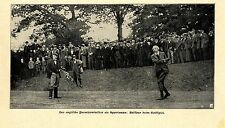 The British Prime Minister Arthur James Balfour in Golf Game Earl of... 1902