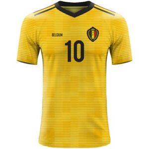 FIFA WORLD CUP 2022 Belgium Football Fan Jersey HAZARD COURTOIS MERTENS FELLAINI