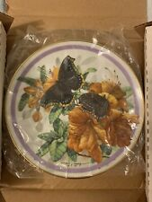 """ Morning Cloak "" 7th issue Butterfly Garden Plate Coll 1986"