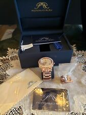Porsamo bleu watch rose gold stainless steel great cond 5Atm Swarovski FREE SHIP
