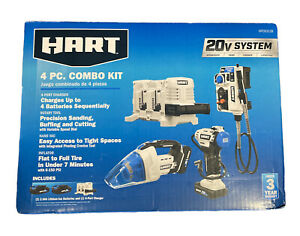 HART 20-Volt 4-Tool Lifestyle Kit (2) 20-Volt 2.0Ah Lithium-Ion Batteries HPCK31