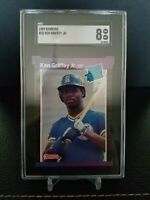 1989 Donruss Ken Griffey Jr. (#33) Rated Rookie Mariners SGC 8 NM-MT