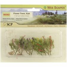 """Wee Scapes 00302, Flower Trees, 1 1/2"""" - 2"""" 8pk"""