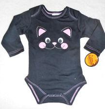 Baby Mädchen Body 💜 SCHWARZE KATZE 💜 Langarm 💜 Shirt Pulli 💜 NEU