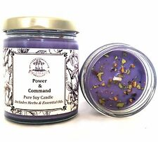 Power & Command Soy Spell Candle Influence Control Dominance Hoodoo Wiccan Pagan