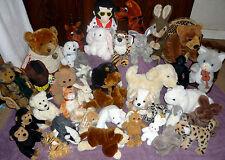 Soft Plush Toys Bunny Rabbit Puppy Dog Ginger Cat Teddy Bear Tiger Labrador