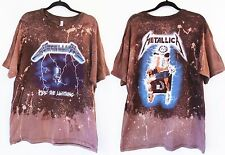 Metallica Licensed ombre bleached  t shirt S-2XL Ride the Lightning
