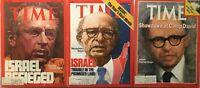 ISRAEL / MENACHEM BEGIN / YITZHAK RABIN  Lot of 3 TIME Magazines 1974,1977,1978