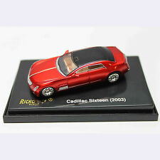 HO 1:87 RICKO 38457 2003 Cadillac Sixteen Concept Car - Metallic Red
