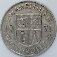 1971 | Mauritius One Rupee | Cupro-Nickel | Coins | KM Coins