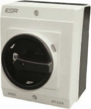 ESR Electrical Lockable Switch Rotary DC Isolator 4 Pole 20A IP65 Enclosure Box