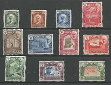 ADEN ,SHIHR & MUKALLA SG1-11 THE 1942-6 GVI SET OF 11 FINE MOUNTED MINT CAT £70