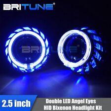 Turbine Dual LED Halo Angel Eyes HID Headlight Bixenon Projector Lens Lens 2.5''