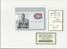 Billy Carter (Bill) Montreal Canadiens AUTOGRAPH AUTO INDEX HOCKEY CARD 100% COA
