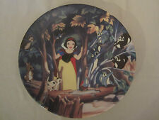 Surprise In The Clearing collector plate Snow White And Seven Dwarfs #11 Disney