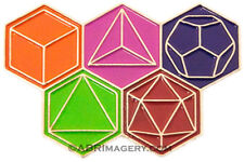 Hat Pin 38 - Platonic Solids - Limited Edition Planes Of Existence Glassblowing
