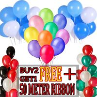 "Latex 5"" inch PLAIN BALOON BALLONS helium BALLOONS Party Birthday Wedding"