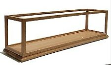 "Solid Oak Wood Handmade Display Case for Train 21"" Length x 8"" Width x10"" Height"