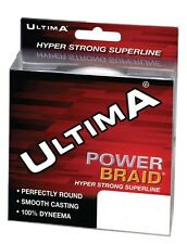 New Carp Fishing Tackle Ultima Power Braid Dyneema Line 10lb Grey 300yds Spool