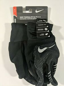 Nike Therma-FIT Elite 2.0 Run Gloves Black/Silver Men's Size Large NWT