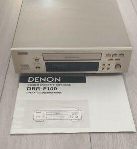 Denon DRR-F100 Cassette Deck Tape Player Recorder Micro Hi-Fi Stack Component