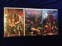 Zenescope Lot Beyond Wonderland #2 Call Of Winderland #2 & #4 Grimm Fairy Tales