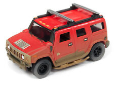 AUTO WORLD *XTRACTION* HO OFF ROAD SLOT CAR = Red 2004 Hummer H2 *NIP*