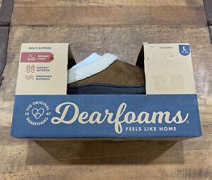 Dearfoams Men's Slippers Indoor/Outdoor Wear Memory Foam Chestnut Size 11/12 NIB