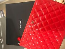 Chanel O Bag Clutch/iPad case Red Patent Leather