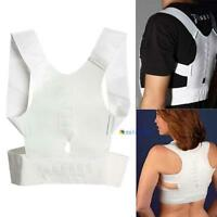 Magnetic Therapy Posture Corrector Body Back Pain Belt Brace Shoulder Support GA