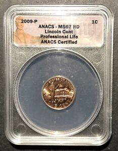 2009-P Lincoln Professional Life Cent ANACS MS-67 RD, Buy 3 Items, Get $5 Off!!!