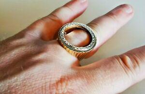 Full sovereign ring mount - solid 9ct gold, full hallmark. Free Insured P&P #Ms