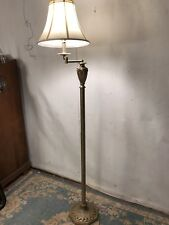 """Brass Style Lamp Not Antique,60""""H,9""""W.See 7pictures 4Closeups&details.MAKE OFFER"""
