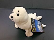 NATIONAL GEOGRAPHIC BABY PLUSH ARTIC SEAL 15CM STUFFED ANIMAL TOY - BNWT