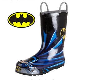 NEW Batman Children/ Toddler US 8  Rain Boot With Branded Box