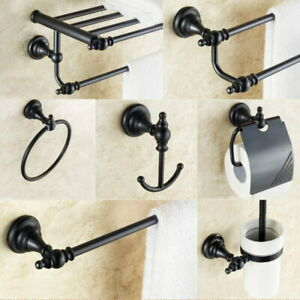 Oil Rubbed Bronze Bathroom Hardware Set Bath Accessories Towel Bar Ring Holder