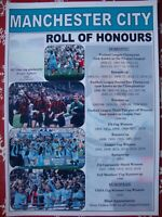 Manchester City club history - Man City 2019 treble - souvenir print