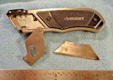 HUSKY RETRACTABLE UTILITY KNIFE BELT CLIP BLACK METAL HANDLE LANYARD LOOP USED