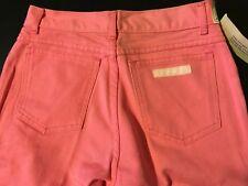 Vintage 80s NWT Jordache Girls Pink Denim Jeans Size 12 Made USA